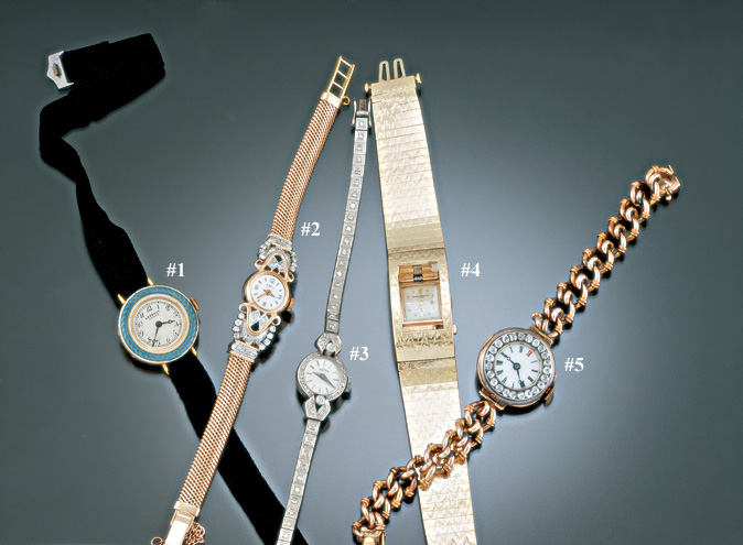 LADIES DIAMOND WRISTWATCHES
