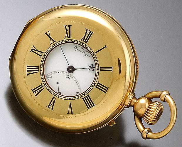 18k antique gold pocket vintage watch